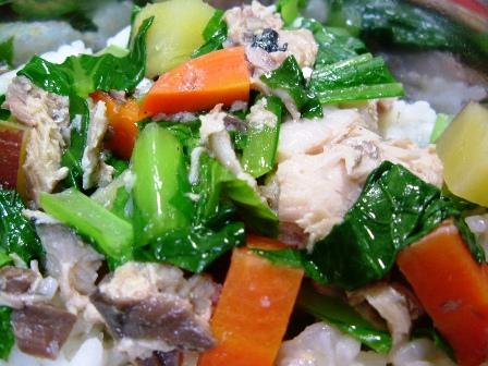 サバの野菜煮込み味噌風味