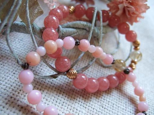 ピンクオパールとロードクロサイト