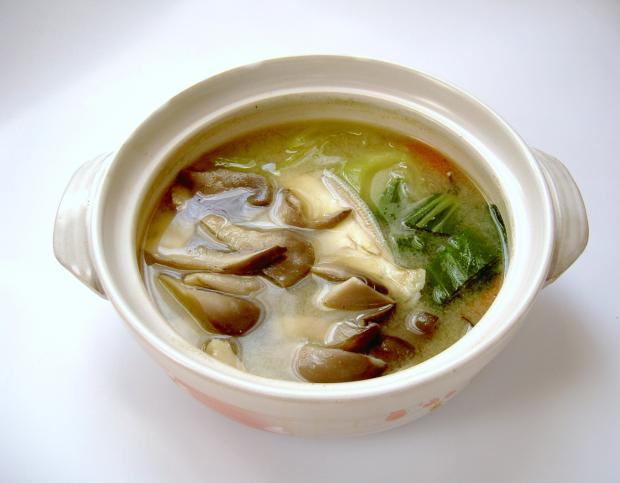 ヒラタケの味噌汁