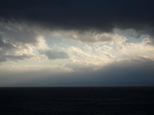 徳島県南部を遠望する