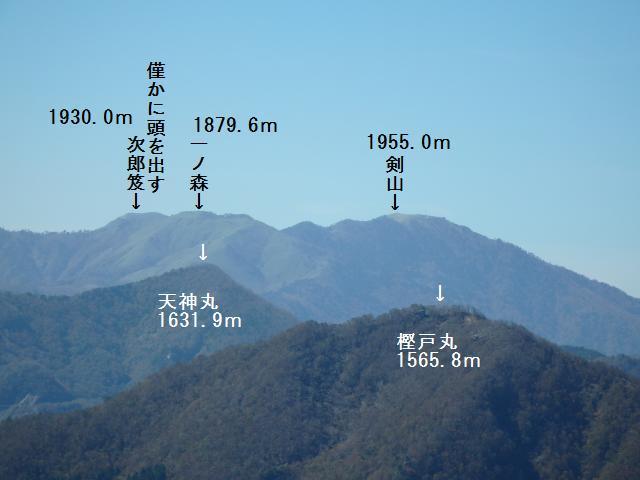 剣山を遠望する