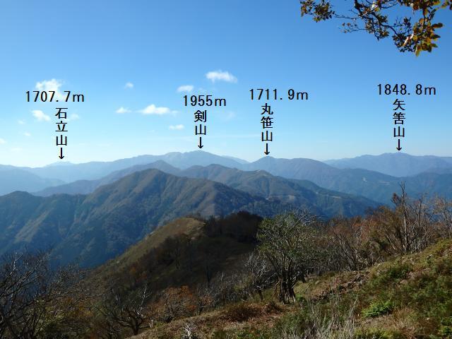 剣山方面 (西~西南西方向)