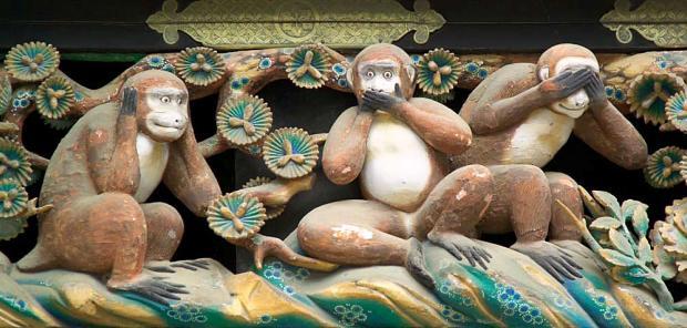 日光東照宮の三猿