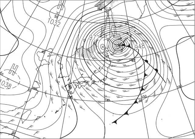 2014年12月17日09時の予想天気図