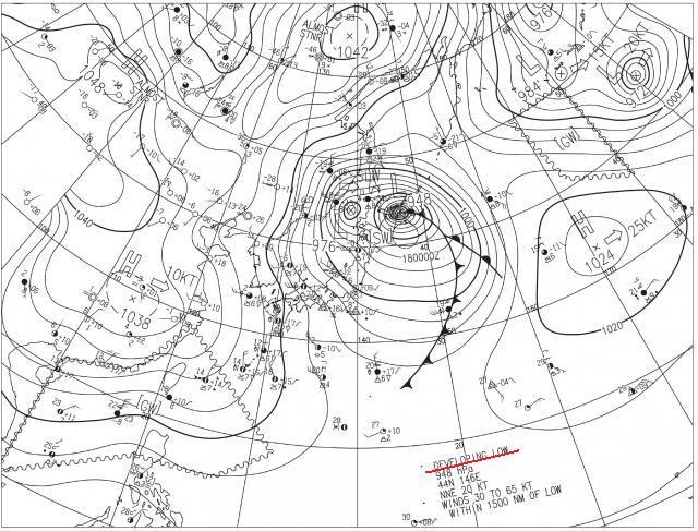 2014年12月17日実況天気図