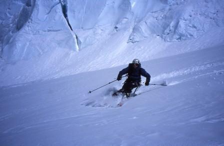 ワスカラン北峰を滑る