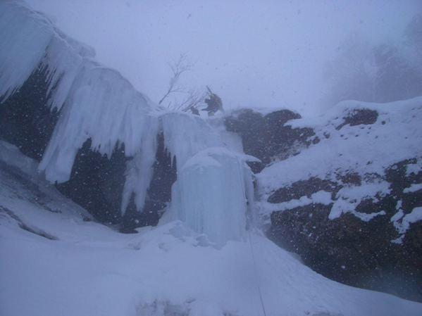 兎谷大滝の懸垂