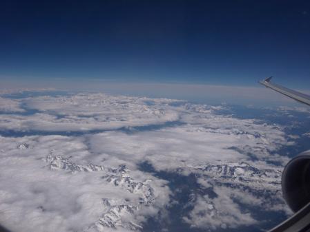 montagnes et nuages