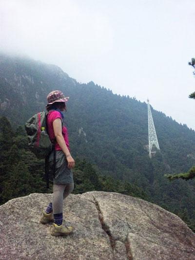 山ガール|日帰り登山|御在所岳(標高1212m)|三重県|2012/07/29|登山コース(下り⇒一ノ谷新道)