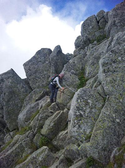 山ガール|日帰り登山|中央アルプス|登山コース(宝剣岳-三ノ沢分岐-極楽平)