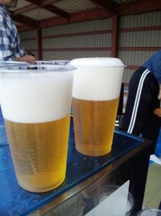 完成した生ビール