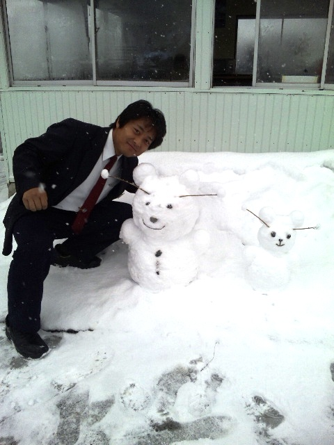 雪だるまトリオ
