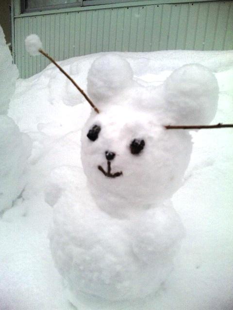 """雪だるま""""弟"""""""