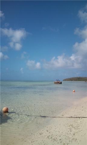 パームス前のビーチ