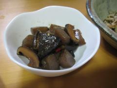 椎茸とコンニャクのピリカラ煮