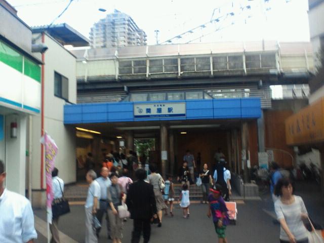 牛田駅の目の前でした