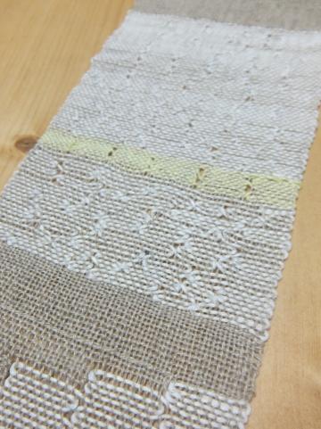 スパニッシュレースのサンプル織り