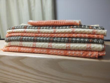 織り上げたワッフル織り