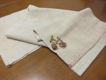 手織りの端布