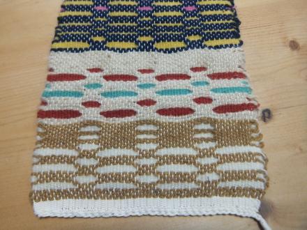 ハニーコムのサンプル織り