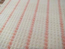 8枚綜絖のワッフル織り、クリーム色のクロス