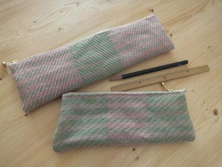 8枚綜絖の綾織り・2つのペンケース