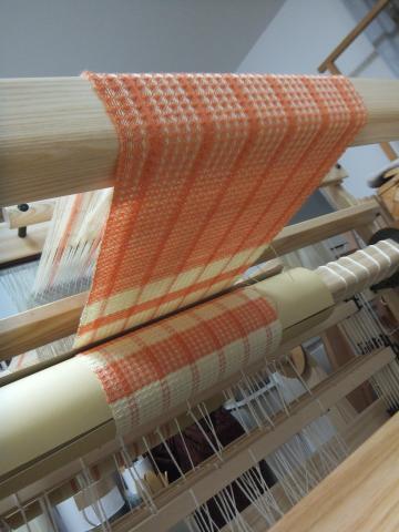 ワッフル織り、クロスビームはぐるぐる