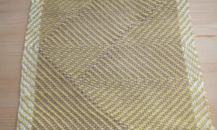 綾線効果の織りの、サンプルより