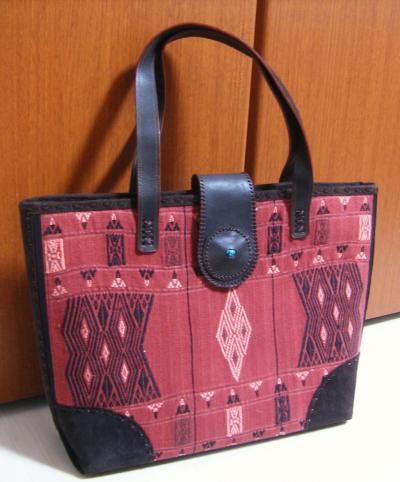 ナガの民族布バッグ