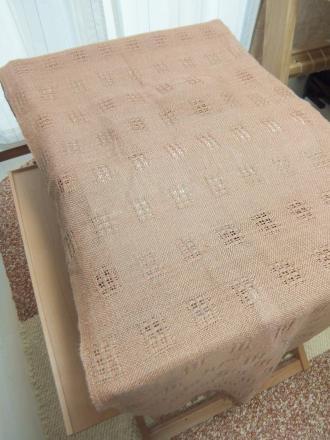 模紗織りのショールの使い途