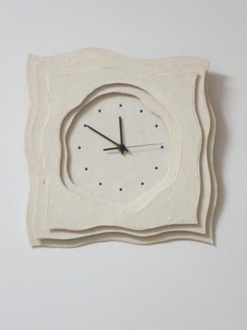 美濃和紙の壁掛け時計