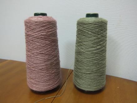 8枚綜絖綾織り応用作品用の糸