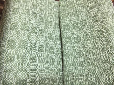 変化綾織り 機から下ろしました