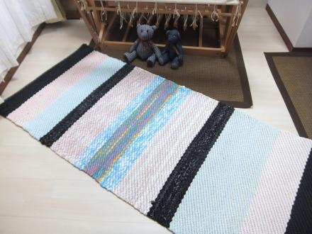 裂き織りロングマット