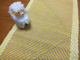 綾線効果の織り・サンプル