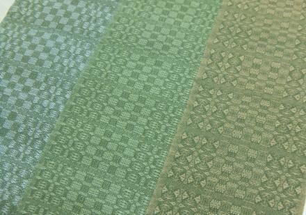 カシミヤマフラー 3枚組織比較