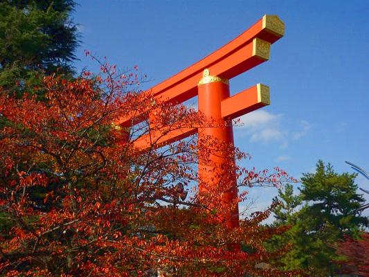 秋の平安神宮鳥居
