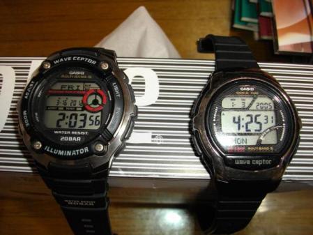 カシオの電波腕時計