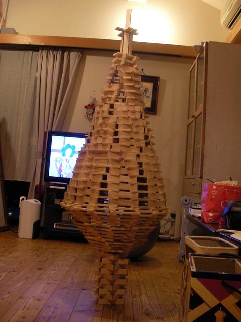 カプラでクリスマスツリー