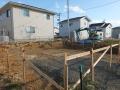 愛島の家根切り工事