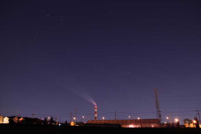20110108沈む冬の星座1