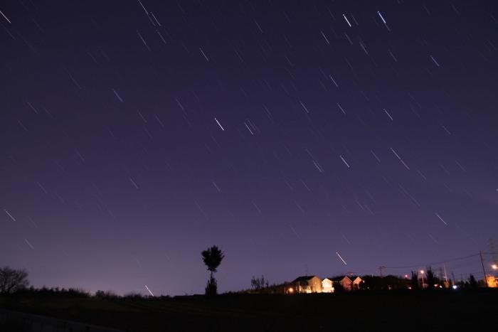 20110108沈む冬の星座
