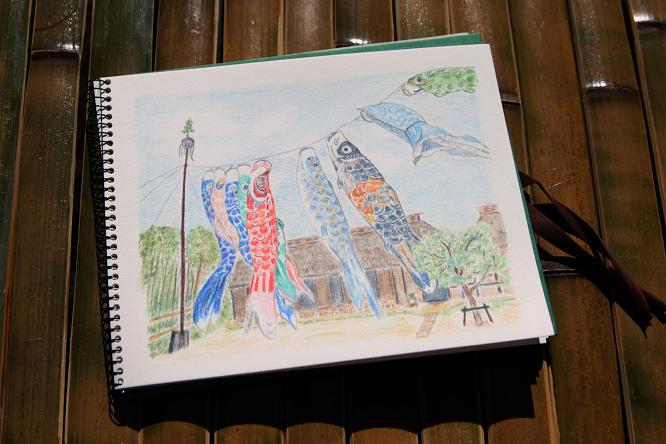 20120218水彩色鉛筆 都筑民家園a