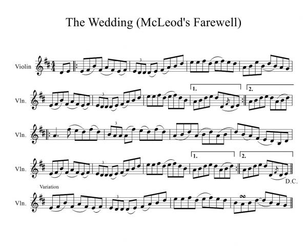 The Wedding (McLeods Farewell) with ornament-1