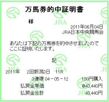 20110604新潟11R的中
