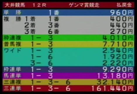 20110609大井12R的中2