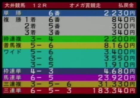 20110610大井12R的中2