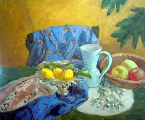 亀田節子「レモンとりんごのある静物」-blog