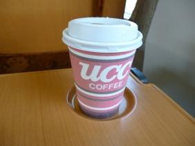 車内販売ホットコーヒー