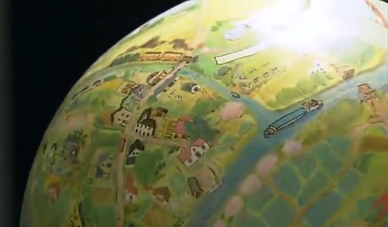 吉祥寺のある地球儀